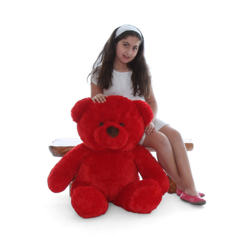 38in Plush Big Riley Red Chubs Huggable Teddy Bear Toy