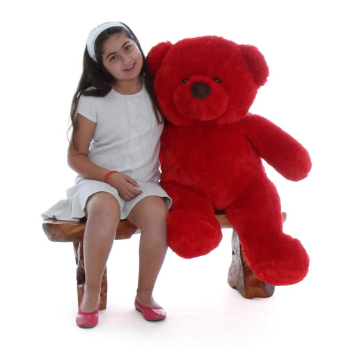 3ft Big Red Riley Chubs Huggable and Cuddly Teddy Bear Gift