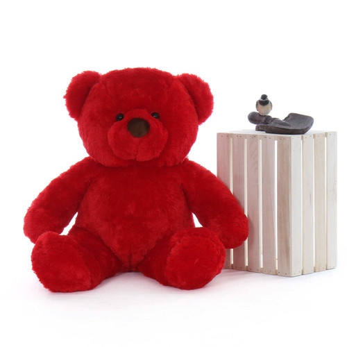 3ft Plush Big Riley Red Chubs Huggable Teddy Bear Toy