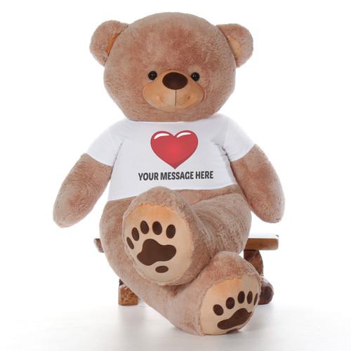 7 Foot Giant Personalized Teddy Bear - Teddy & Hugs