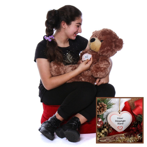 Super Soft Brown Christmas Teddy Bear Gift