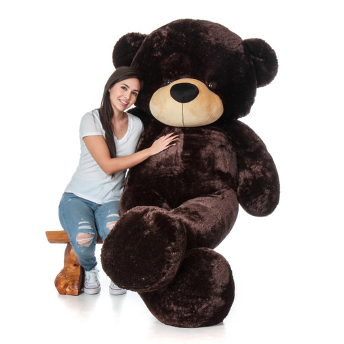 Giant Teddy Brand Biggest Teddy Bear - 7 Foot Tall Chocolate Brown Valentine's Day Stuffed Animal