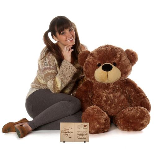 38 inch Sunny Cuddles Mocha Brown Teddy Bear