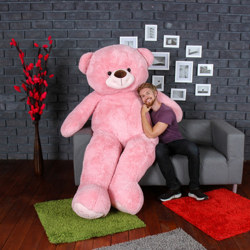 7 Foot Biggest Pink Teddy Bear Ever! Perfect Unique Valentine's Day Gift