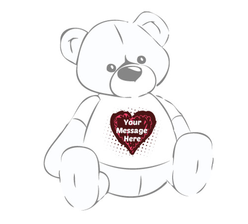 Giant Teddy Bear Heart Truffle T-shirt
