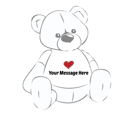 Heart Stamp T-shirt for Teddy Bear