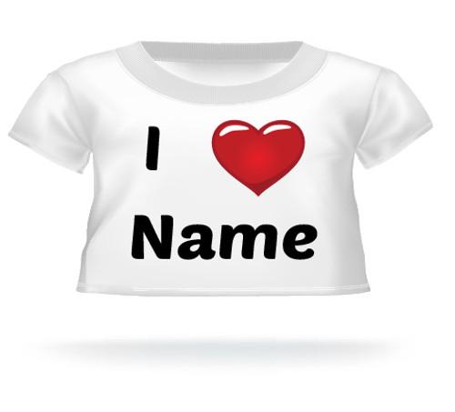 I Heart Name Teddy Bear T-shirt