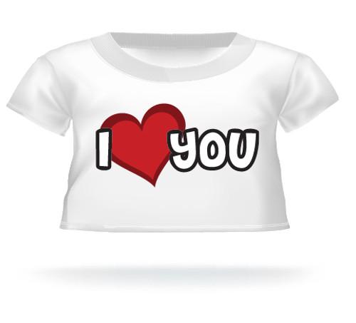 I Love You Teddy Bear Shirt