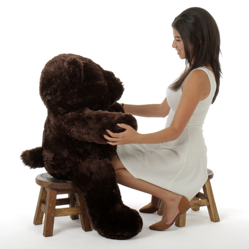 38in Munchkin Chubs Dark Brown Teddy Bear