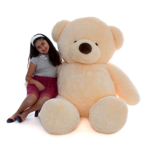 72in Chubs Giant Vanilla Cream Teddy Bear Smiley Chubs vanilla cream teddy bear