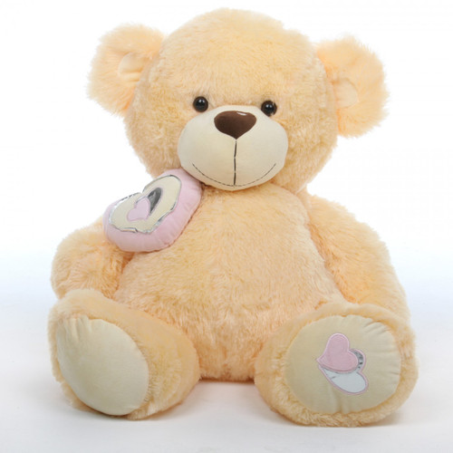 2.5ft Huge Honey Pie Big Love Cream Teddy Bear