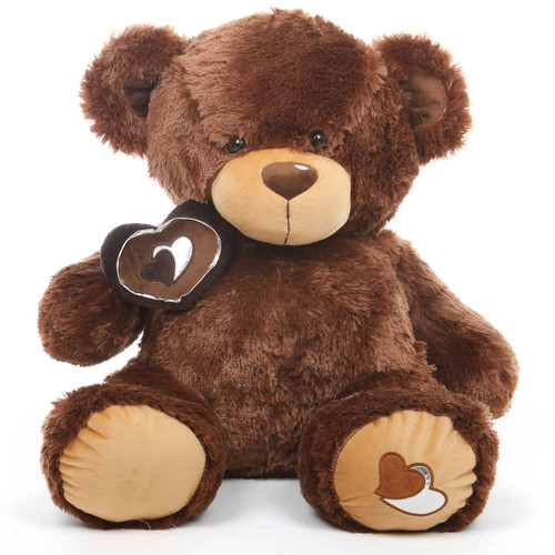 Sweetie Pie Big Love hazelnut brown teddy bear 30in