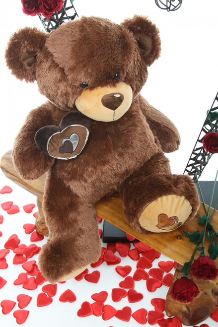 2.5ft Enroumous Hazelnut Teddy Bear Sweetie Pie Big Love