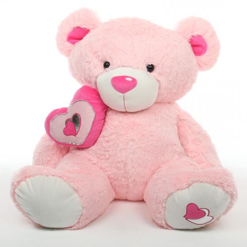 4ft Huge Pink Cutie Pie Big Love Teddy Bear