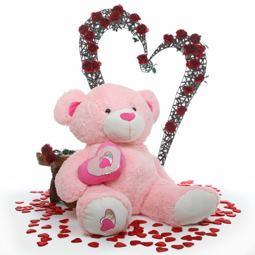 47in Cutie Pie Big Love Pink Teddy Bear