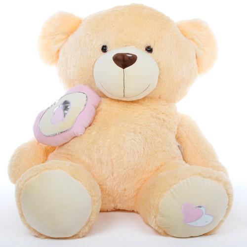 Honey Pie Big Love butterscotch cream teddy bear 47in
