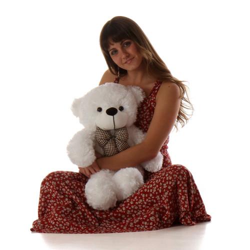 Big White Teddy Bear Coco Cuddles 24in
