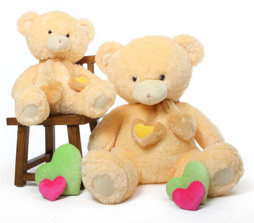 45in Cream Vanilla Sweet Hugs Teddy Bear