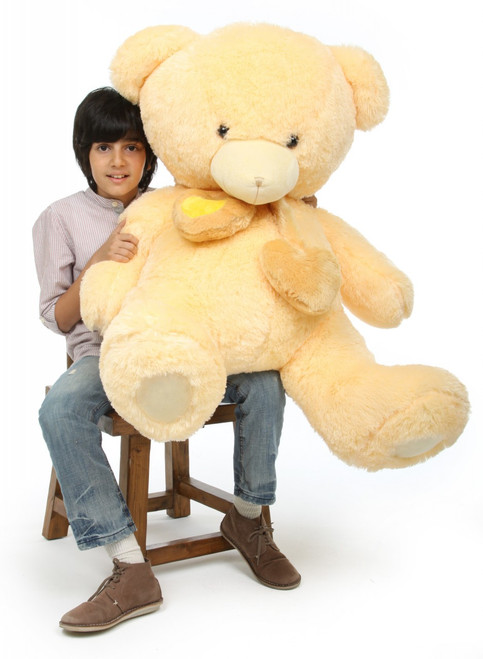Teddy Bear Cream Vanilla Sweet Hugs 45in