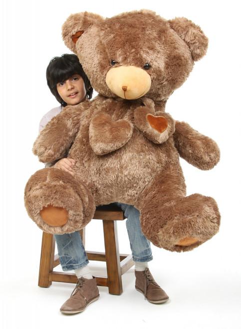 4ft Chestnut Brown Teddy Bear Cheaky Hugs