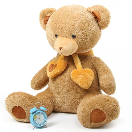 Cupid Hugs Big Cute Amber Heart Teddy Bear 45in