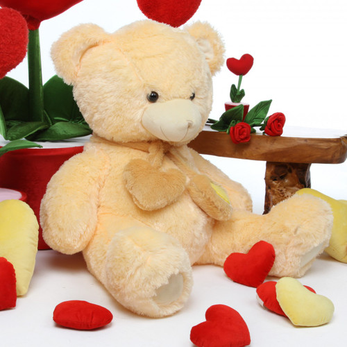 Huge Vanilla Teddy Bear Sweet Hugs 36in