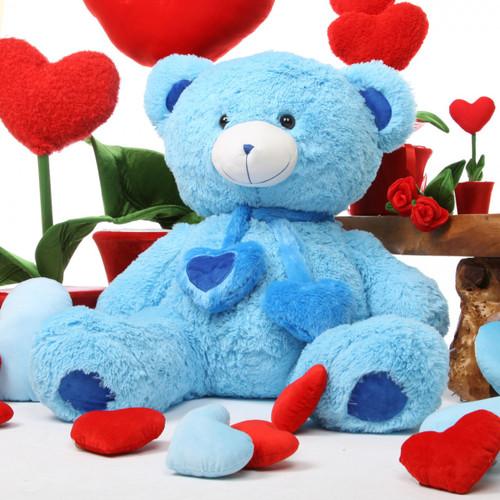 Shorty Hugs blue teddy bear 36in
