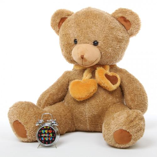 Cupid Hugs Big Cute Amber Heart Teddy Bear 36in