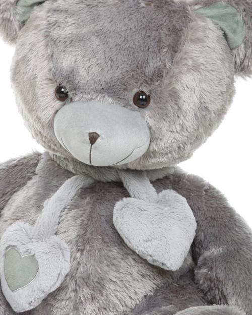 Angel Hugs silver teddy bear 36in