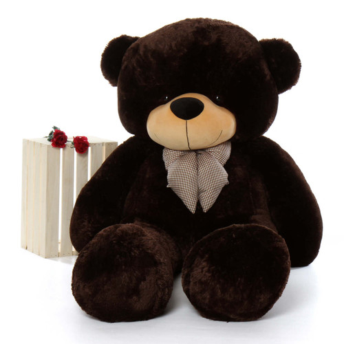 72in Brownie Cuddles Chocolate Brown Teddy Bear