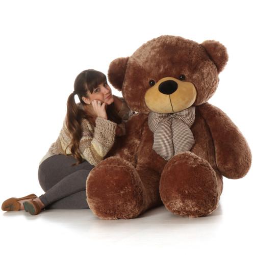 60in Sunny Cuddles Mocha Brown Teddy Bear
