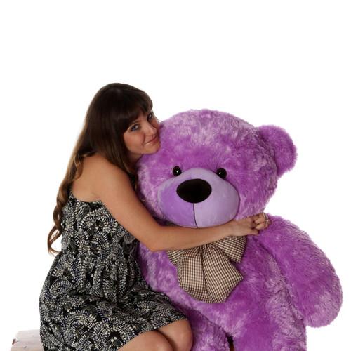 Life Size Purple Teddy Bear DeeDee Cuddles 48in