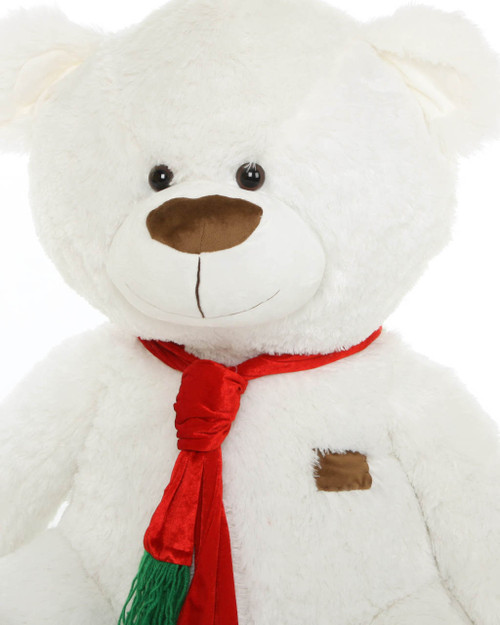 45in White Waldo Holiday Shags Teddy Bear