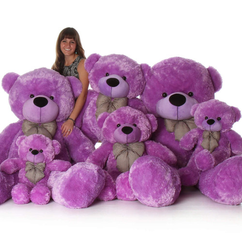 72in DeeDee Cuddles Purple Teddy Bear