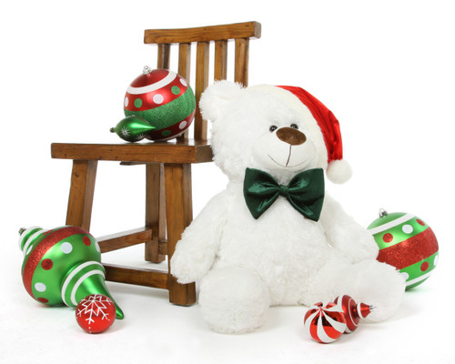 Waldo Holiday Shags Plush White Christmas Teddy Bear 27in
