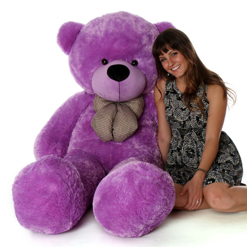 5ft Purple Life Size Teddy DeeDee Cuddles is Snuggly Soft and Cuddly
