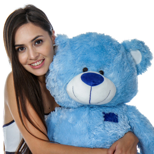 Giant Teddy Brand Blue Big Teddy Bear with Floppy Head