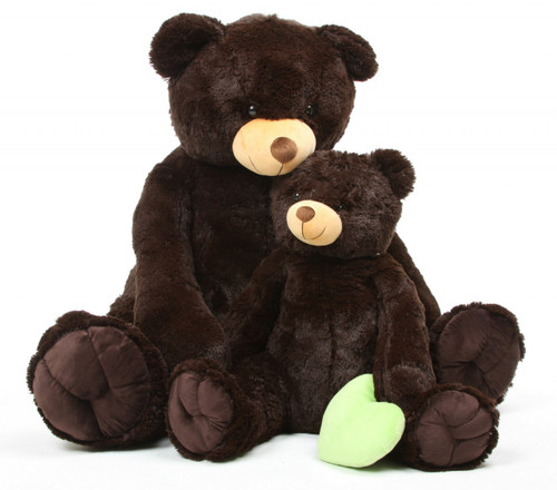 Chocolate Brown Teddy Bear 52in Baby Tubs