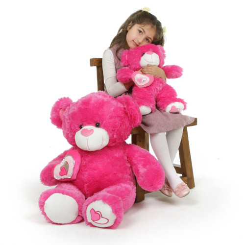 30in Hot Pink ChaCha Big Love Teddy Bear