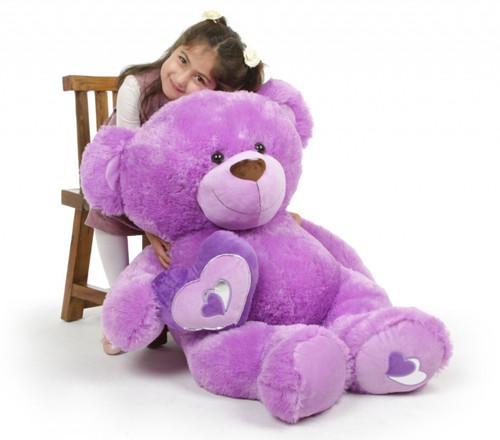 Sewsie Big Love Extra Large Irresistible Lavender Teddy Bear 42 in