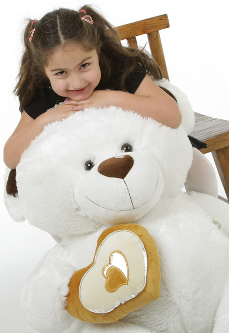 4ft White Extra Large Chomps Big Love Teddy Bear