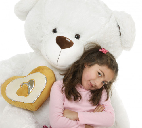 47in White Chomps Big Love Teddy Bear