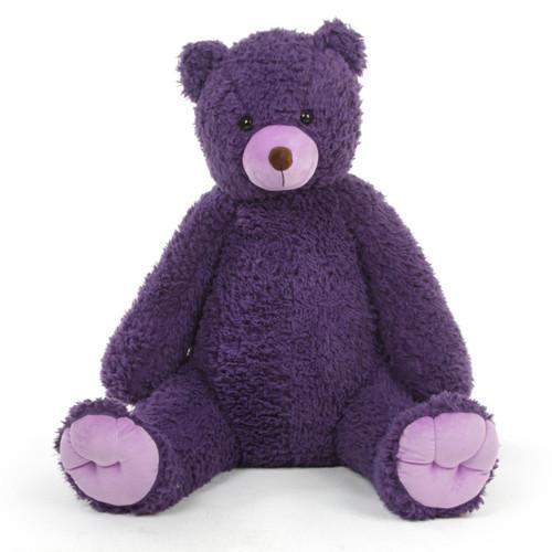 4ft Purple Teddy Bear Violet Woolly Chubs