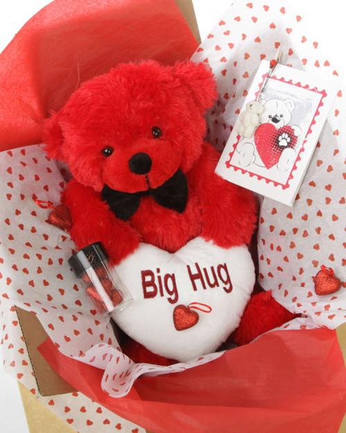18in Red Teddy Bear Package He Loves Me