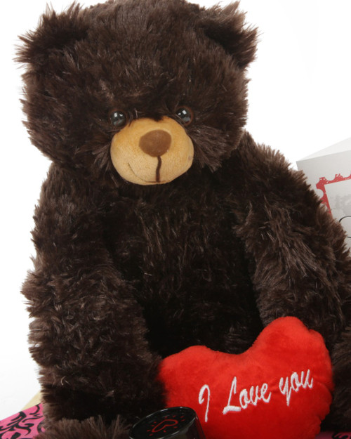 18in Baby Heart Tubs Chocolate Brown Gimme Some Lovin' Bear Hug Care Package