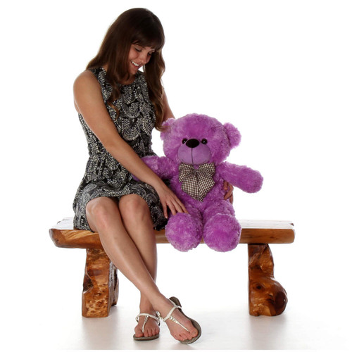 DeeDee Cuddles Adorable Lavender Purple Plush Teddy Bear 30 inch