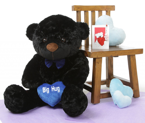 I Love You This Much Bear Hug Care Package with Juju Cuddles Black 38in