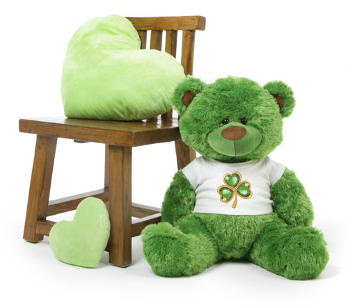 35in Green Teddy Bear Willy Shags Personalized St. Patricks Day