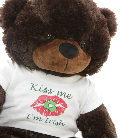 Kiss me I'm Irish T-Shirt St Patrick's Day Teddy Bear 30""