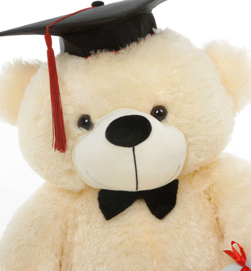 Super soft Cream Graduation Teddy Bear with Diploma
